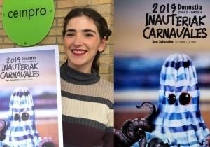 Lara Aranzabal con el cartel